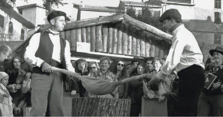Pulitura tradizionale mosciarella. Foto di Fabio Mazzi